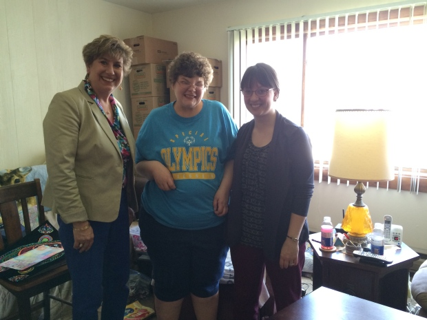 Angela was so proud to have Senator Shilling spend time out of her day to see what she does in music therapy!