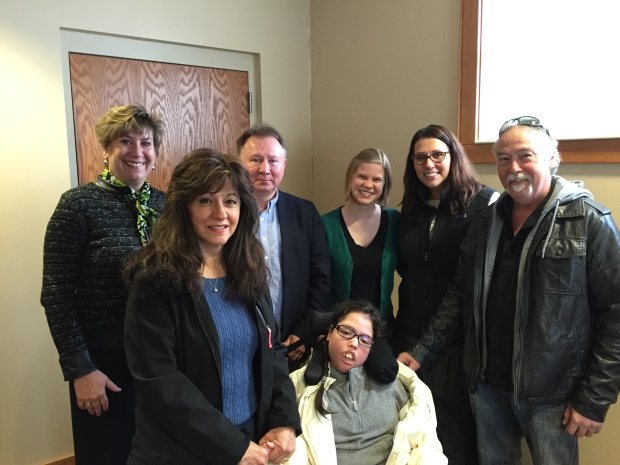 Adrianna and her family shared their story at a Budget Hearing Session in West Salem.