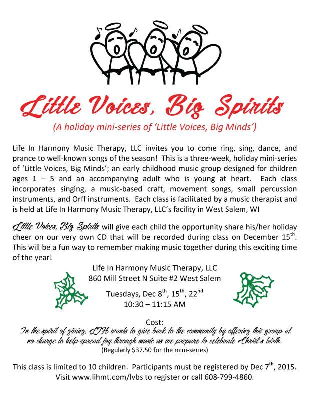 Little Voices, Big Spirits 2015 Flier