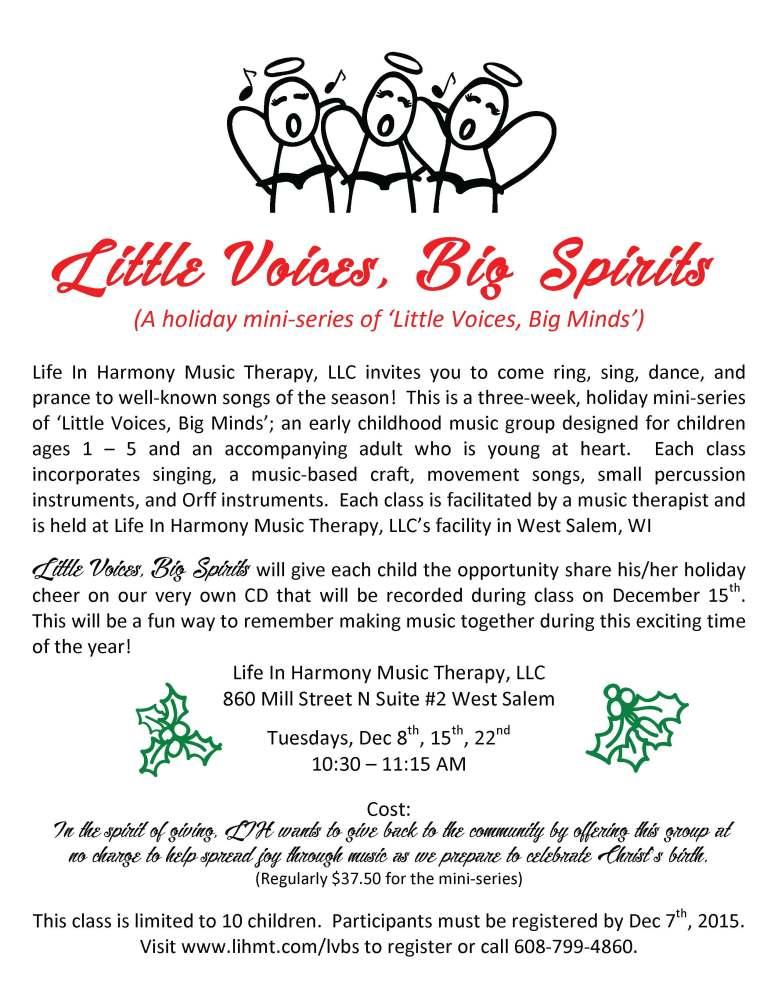 Little Voices, Big Spirits 2015 Flier
