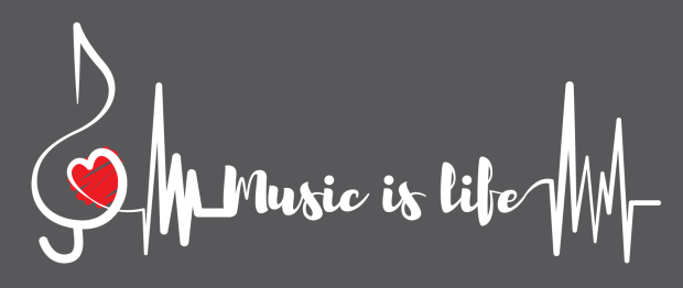 Music Is Life Grey