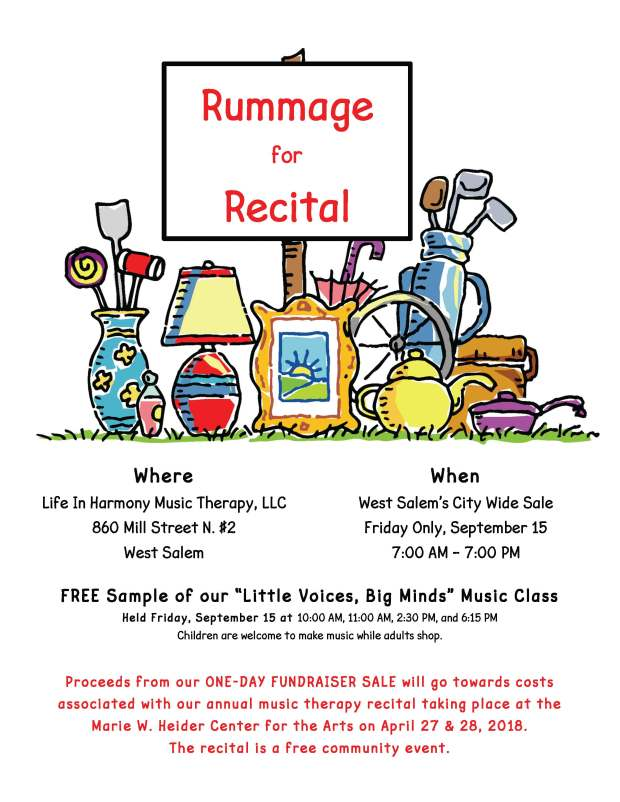 Rummage for Recital 2017